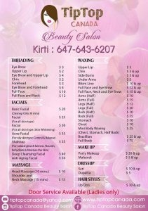 Tip Top Canada Beauty Salon - Ladies Only