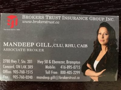 Mandeep Gill Associate Broker