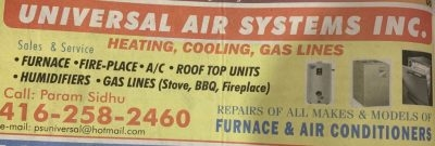 Universal Air Systems Inc.