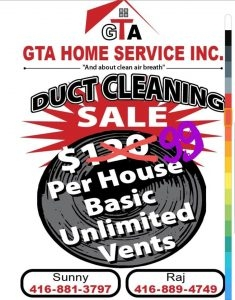 GTA Home Service Inc. Duct Cleaning