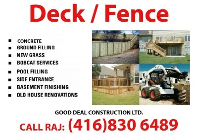 Deck, Fence & Concrete Good Deal Construction